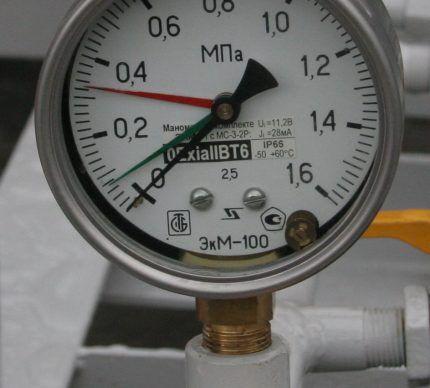 Манометр для газа