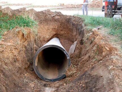 Футляр для подземной прокладки трубопроводов