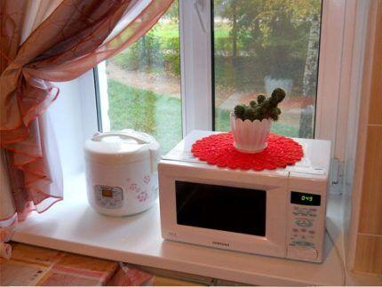Правила размещения микроволновки на кухне