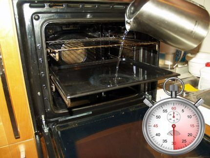 Отпаривание решетки в духовке