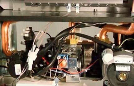 Проверка электрической цепи котла