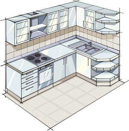 Перепланировка кухонного помещения