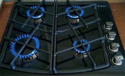 Прогрев газовой плиты для устранения влаги