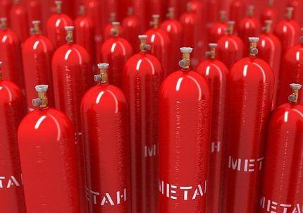 Газовые баллоны разного размера