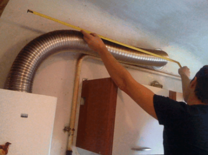 Вытяжная труба для водонагревателя