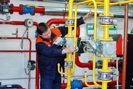 Обслуживание ПСК в газовой системе
