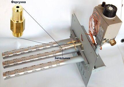 Принцип действия атмосферной газовой горелки