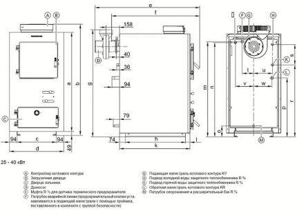 Схема для изготовления пиролизного котла