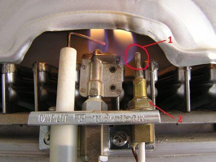 Термопара колонки