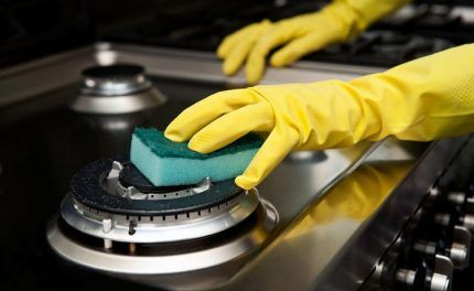 Мытье газовой плиты