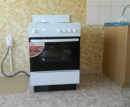 Установка газовой гибридной плиты по месту