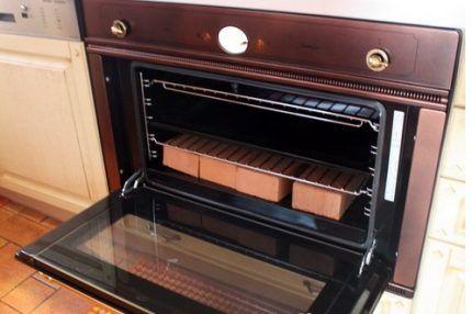 Огнеупорный кирпич в газовой духовке