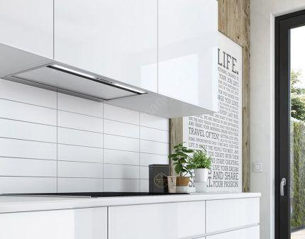 Встроенная в кухонный гарнитур вытяжка