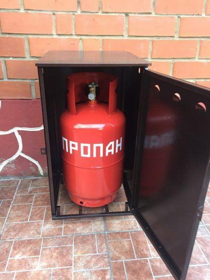 Габариты шкафа для газовых баллонов 27 литров
