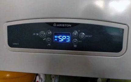 Электронный дисплей газового котла