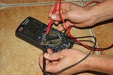 Проверка электрики газового котла мультиметром