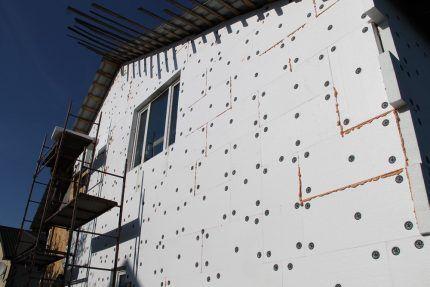 Утепление фасада снаружи дома