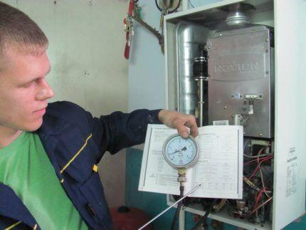 Проверка технического состояния газового котла