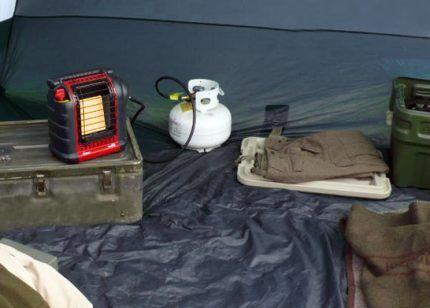 Инфракрасная модель обогревателя для палаток