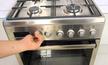 Выключение газовой плиты