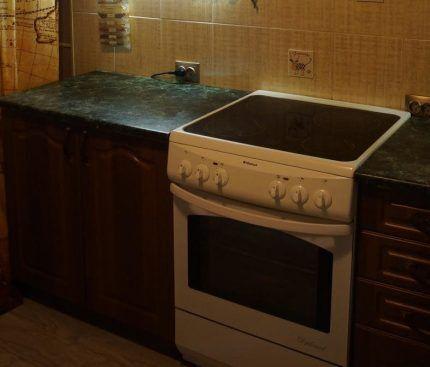 Электроплита в интерьере кухни
