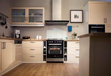 Плита Веко в интерьере кухни
