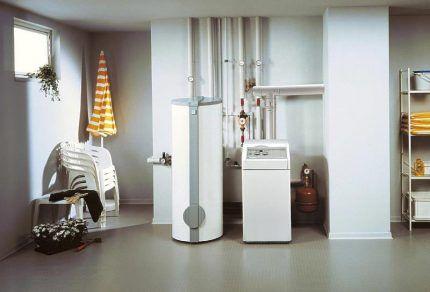 Газовый энергонезависимый котел в интерьере