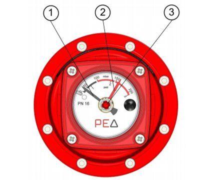 Индикаторы контроля перепада давлений газа