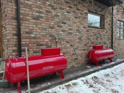 Газгольдеры для работы газового котла