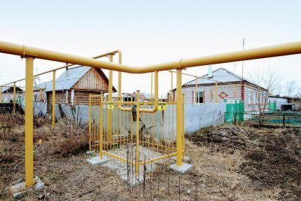 Сети газоснабжения населенного пункта