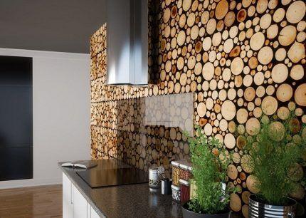 Деревянный экран для стены