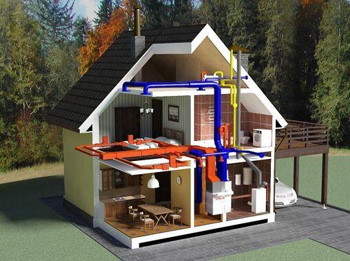 Монтаж отопления 2 этажного дома