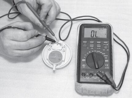 Процедура проверки прессостата тестером