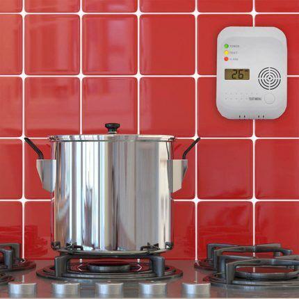 Датчик утечки газа на кухне