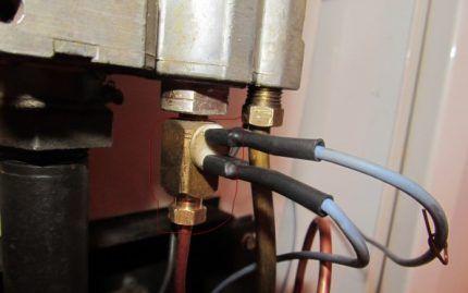 Подключение датчика тяги к клапану