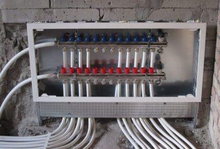 Коллекторный шкаф отопления