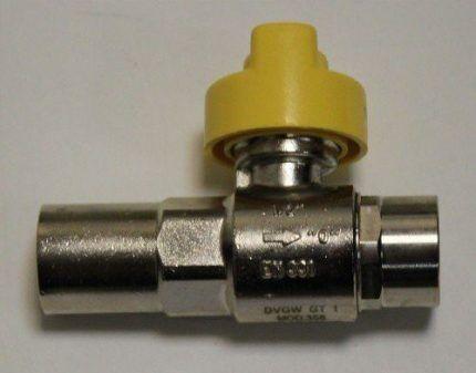 Указатель на термозапорном клапане