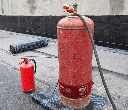 Сосуд для сжиженного газа зимой