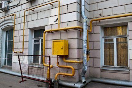 Ввод газа в дом