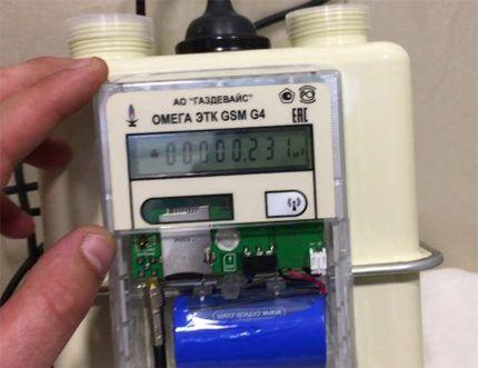 Гибридная конструкция счетчика газа