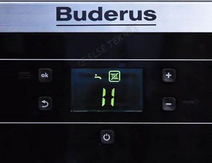 Цифровой дисплей котла Будерус