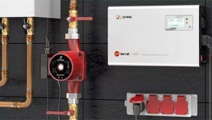 Стабилизатор напряжения на входе электросети в газовый котел