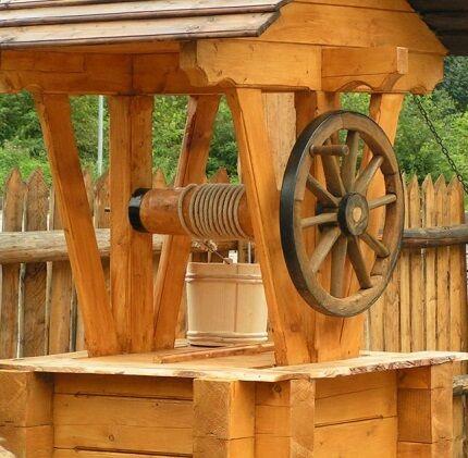 Изготовление колодезных домиков