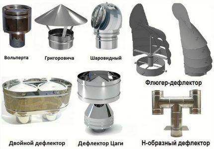 Модели дефлекторов для вентиляции
