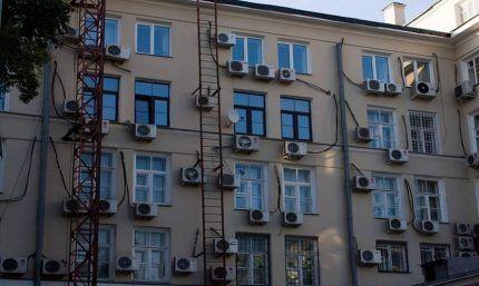 Установка кондиционеров в жилом доме