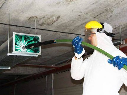 Механическая очистка каналов вентиляции