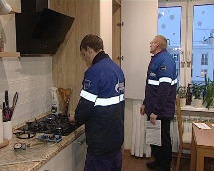 Осуществление проверки газового оборудования