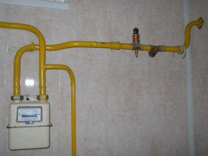 Газопровод на кухне