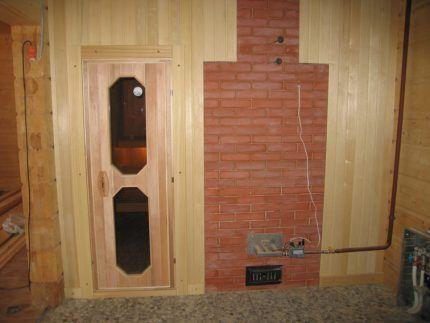 Устройство газового отопления печи бани