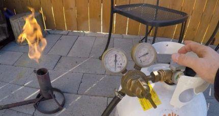 Проверка работы газового оборудования